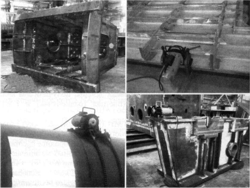 Пример использования НВО на металлоконструкциях различного назначения.